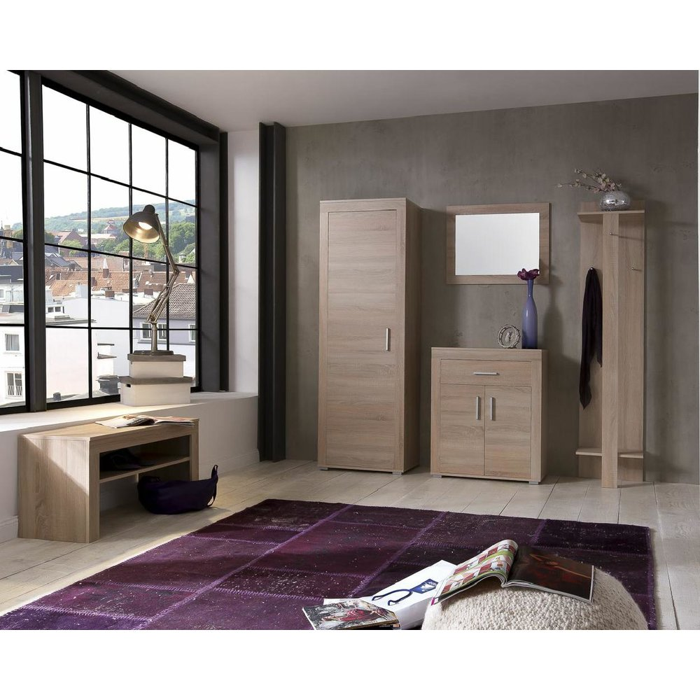 schuhschrank lamos002 eiche sonoma 99 00. Black Bedroom Furniture Sets. Home Design Ideas