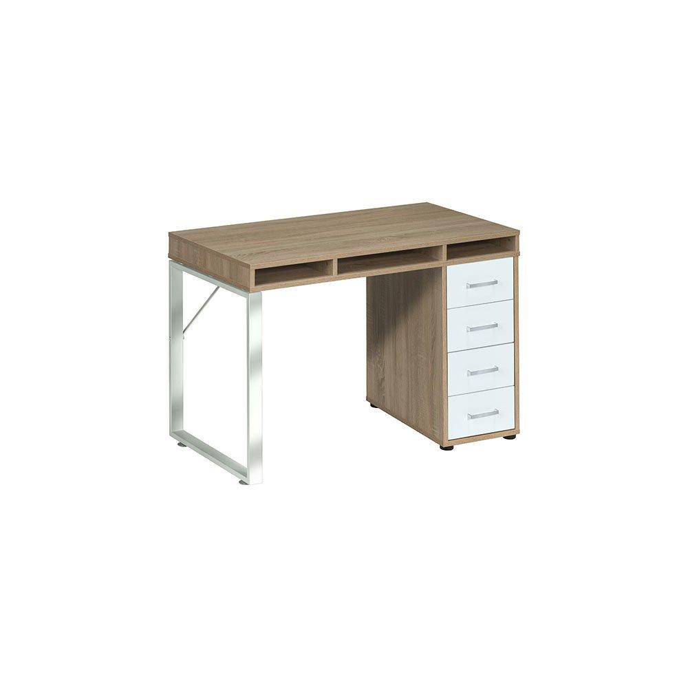 schreib und computertisch magies014 sonoma eiche icy wei 329 00. Black Bedroom Furniture Sets. Home Design Ideas