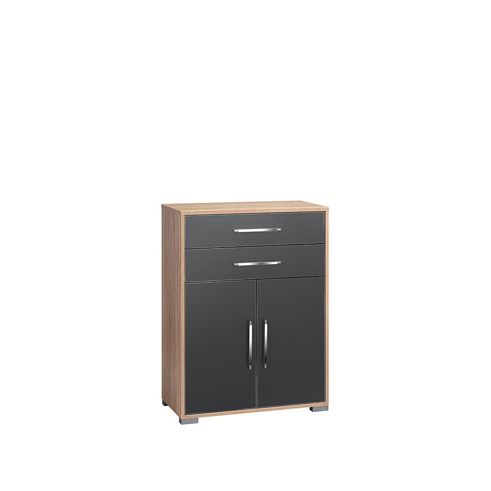 aktenschrank laureenes015 sonoma eiche hochglanz grau 239 00. Black Bedroom Furniture Sets. Home Design Ideas