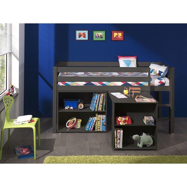 Hochbett Inop003 Mit Schreibtisch Und Regal Bett Aus Kiefer Massiv