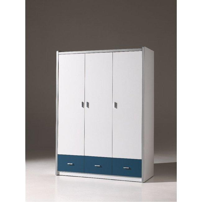 Kleiderschrank 3 Türig Lonnie006 In Weiß/blau ...