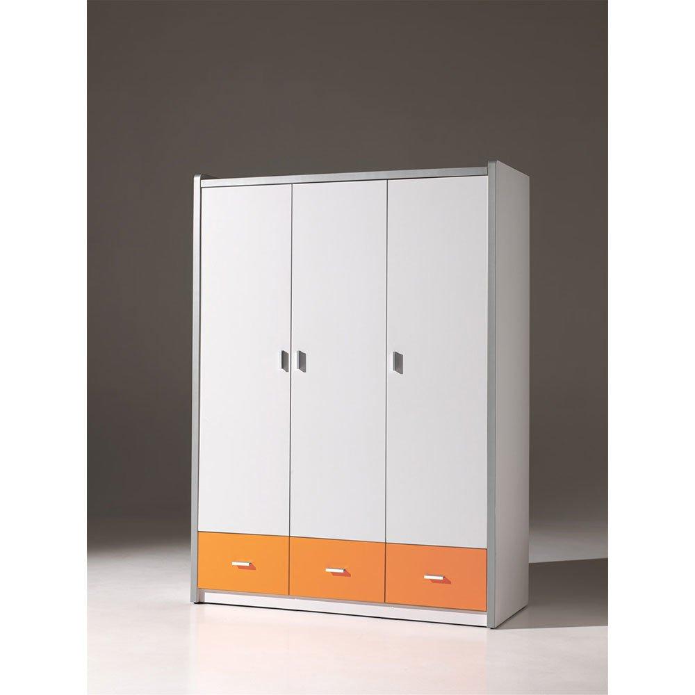 kleiderschrank 3 t rig lonnie006 in wei orange 601 90. Black Bedroom Furniture Sets. Home Design Ideas