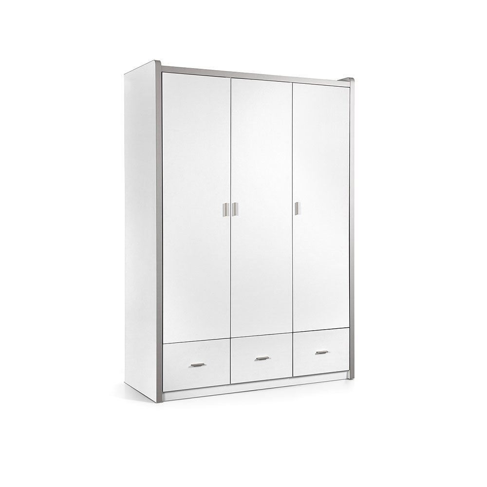 kleiderschrank 3 t rig lonnie006 in wei 601 90. Black Bedroom Furniture Sets. Home Design Ideas
