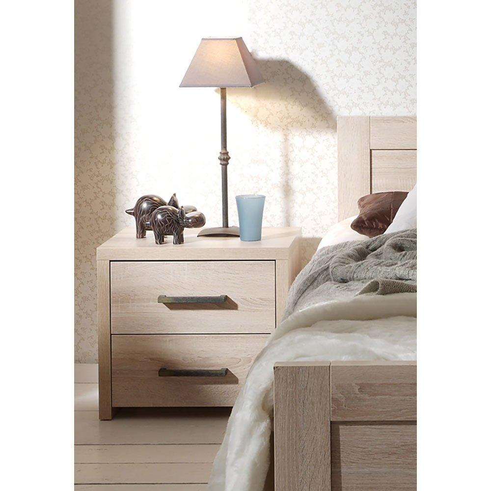 nachttisch lenie006 in sonoma eiche hell 174 90. Black Bedroom Furniture Sets. Home Design Ideas