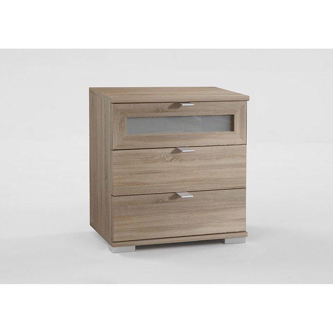 nachtschrank enrik005 eiche s gerau mit milchglaseinsatz 149 00. Black Bedroom Furniture Sets. Home Design Ideas