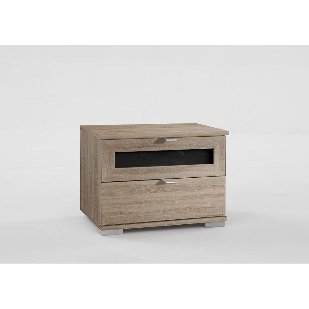 2er set nachtschr nke enrik005 eiche s gerau absetzung glas grey 169 00. Black Bedroom Furniture Sets. Home Design Ideas