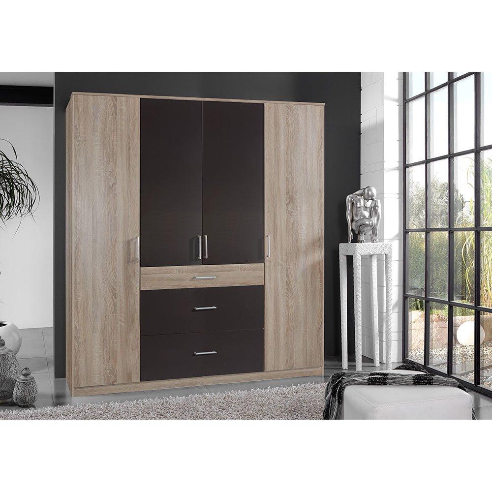 kleiderschrank clickies005 eiche s gerau absetzung lavafarbig 379 00. Black Bedroom Furniture Sets. Home Design Ideas
