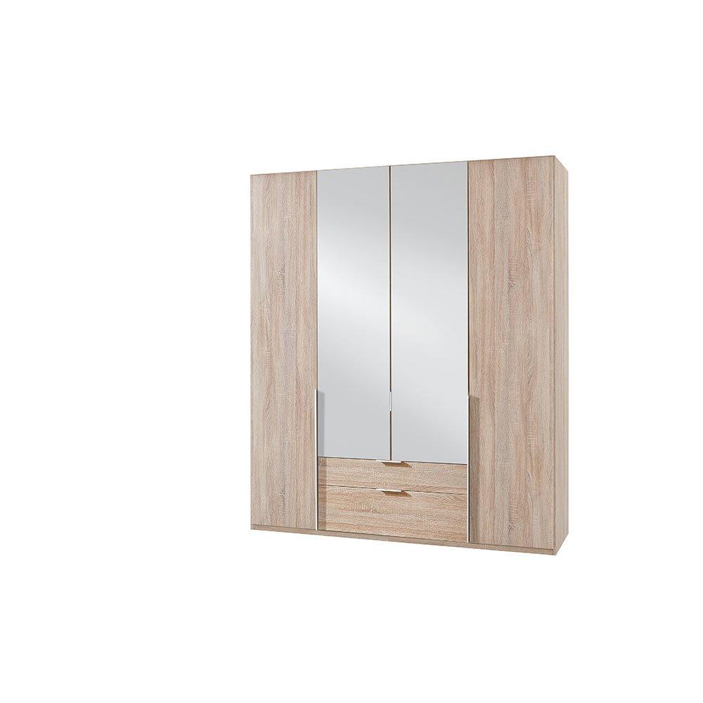 kleiderschrank bamakos a005 eiche s gerau mit spiegel 469 00. Black Bedroom Furniture Sets. Home Design Ideas