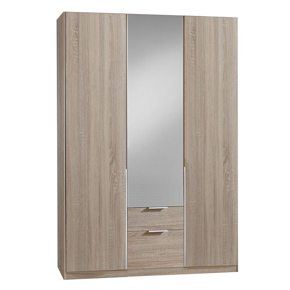 kleiderschrank bamakos a005 eiche s gerau mit spiegel 379. Black Bedroom Furniture Sets. Home Design Ideas