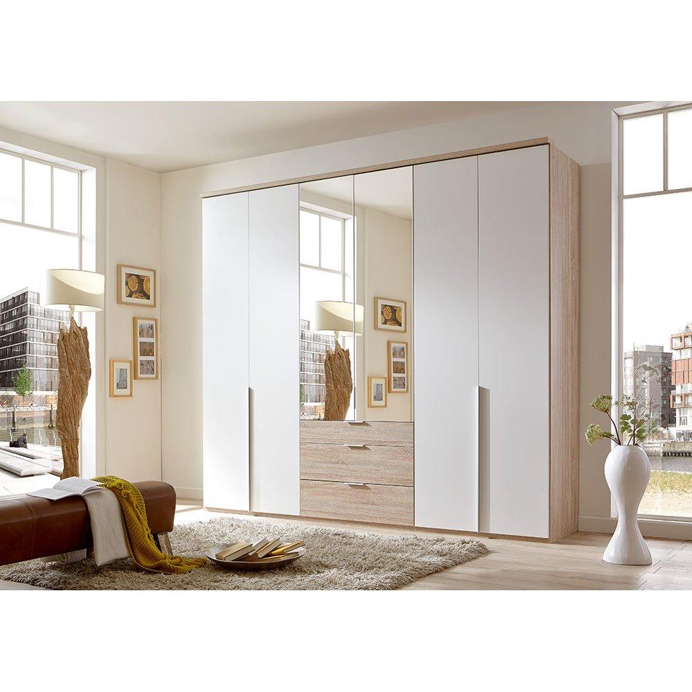 kleiderschrank bamakos a005 eiche s gerau absetzung alpinwei mit sp 619 00. Black Bedroom Furniture Sets. Home Design Ideas