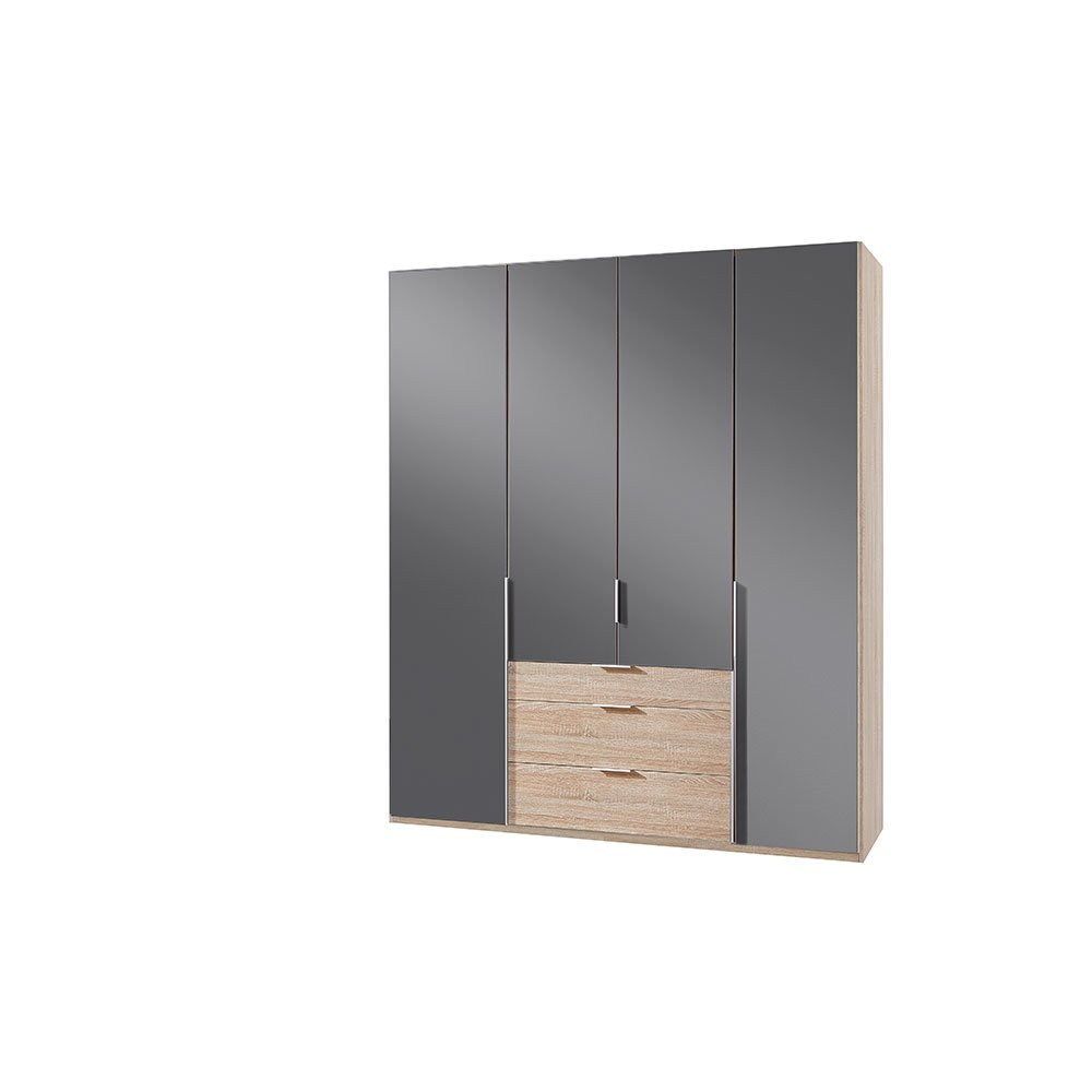 kleiderschrank bamakos c005 eiche s gerau absetzung glas grey. Black Bedroom Furniture Sets. Home Design Ideas