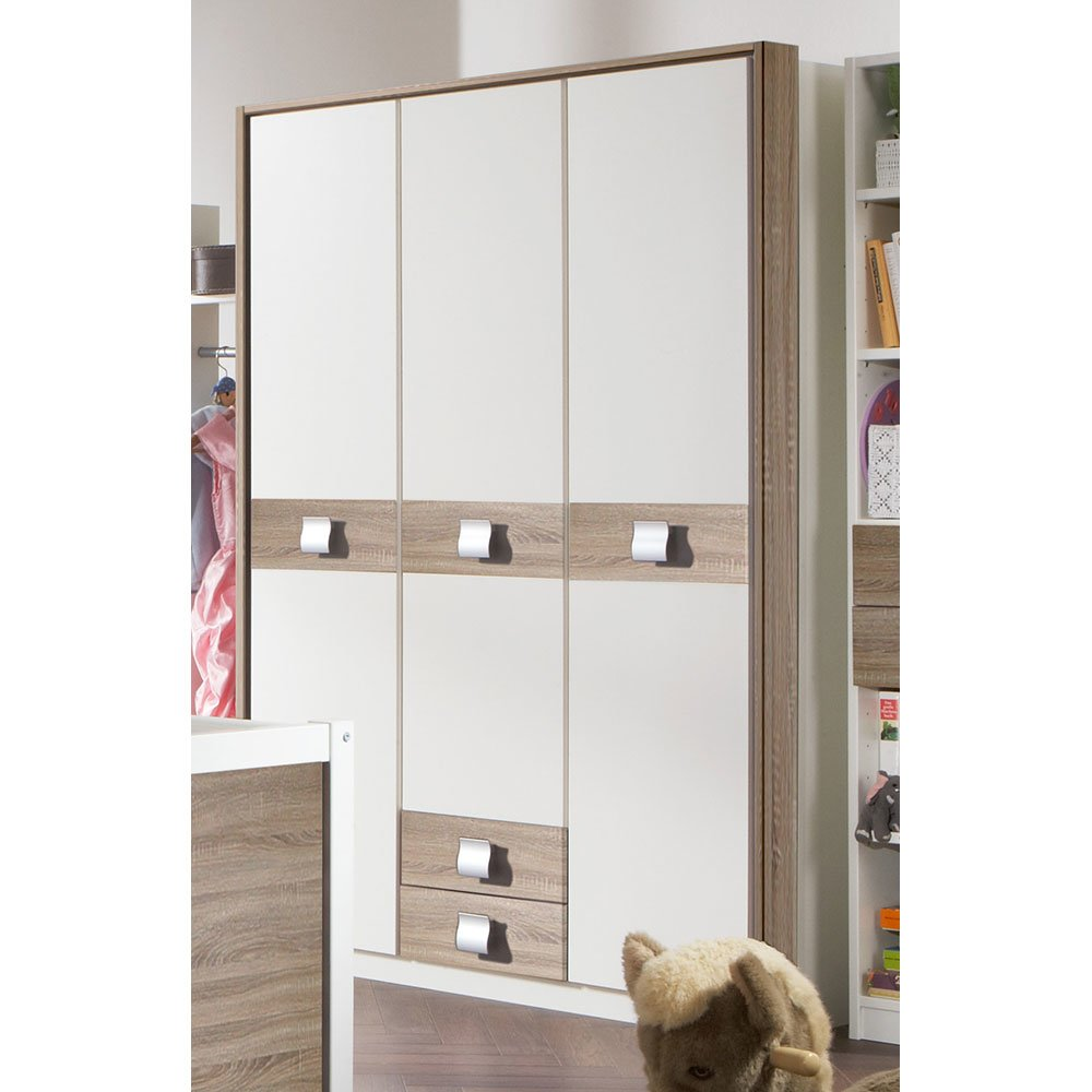 kleiderschrank detties005 in alpinwei absetzung eiche s. Black Bedroom Furniture Sets. Home Design Ideas